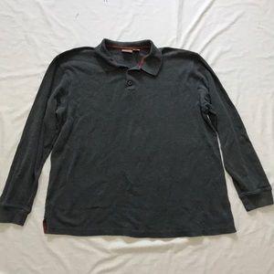 L.L.Bean Mens XL TALL Rugby Long Sleeve Polo Shirt